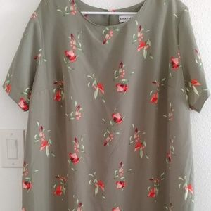Plus Size Olive Green Tunic Top